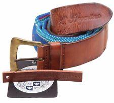 L' ARGENTINA Damen Gürtel Women Belt Größe 95 Leder & Polyester Made in Italy
