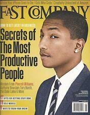Fast Company magazine Pharrell Williams Productive people secrets iPhone Amazon