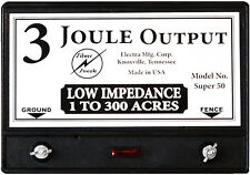 Fence Charger Super 50 3-Joule / Free Lightning Diverter & 4J< Lightning Fuse
