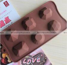 Diamond Gem Ice Cube Tray Chocolate Fondant Silicone Cake Mold S3