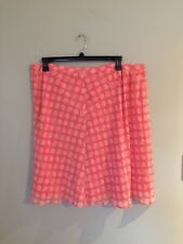 Women's Liz Claiborne Intense Coral Lined Skirt        Size 18        NWT