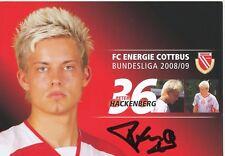 Peter Hackenberg Energie Cottbus 2008/09 Autogrammkarte signiert 324355