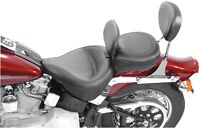 Wide Touring Vintage Solo Seat with Driver Backrest Mustang  79121