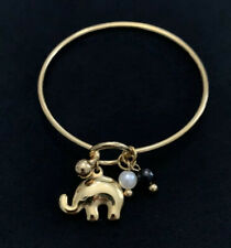Bracelet With Elefant Charm Stainless Steel Gold Color.