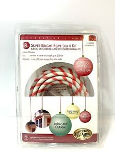 Super Bright Rope Light Kit Hampton Bay 18 Ft  Red & White Indoor & outdoor New
