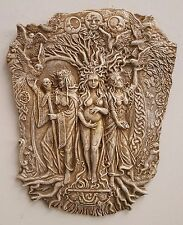 Triple Aspect Goddess Woman Brigid Celtic Wall Decor Maiden Mother Crone Cut Out