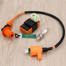 Racing Performance CDI+ Ignition Coil + Spark Plug Fit Gy6 50cc 125cc 150cc ATV