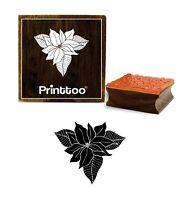 Printtoo Crafting Square Brown Holz Stempel Floral Design Handwerk-ByG