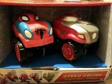 New Marvel Super Hero Adventures SPIDERMAN IRONMAN Speed Squad Hero Drive Cars