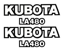 KUBOTA LA480 Loader Vinyl Decal Sticker Set (B&W)