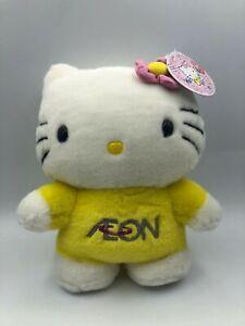Official 1998 Aeon Hello Kitty Sanrio Yellow Cat Plush Stuffed Toy Animal Japan