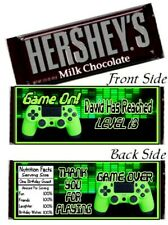 12 Video Game On Level Up Controller Birthday Party Hershey Candy Bar Wrappers