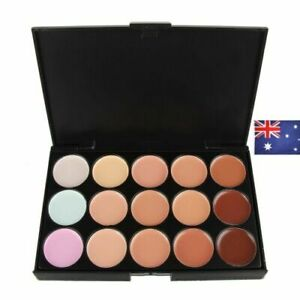AU 15 Colour Concealer Camouflage Contour Eye Face Cream Makeup Full Coverage