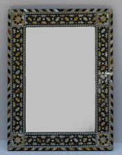 Egyptian Handcrafted Wood Wall Hanging Mirror Frame with Mother of Pearl inlaid