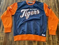 Stiches Athletic Gear Detriot Tigers Pullover Men's Large Baseball Sweater