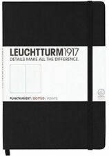Leuchtturm1917 Medium Size Hardcover A5 Notebook Dotted Pages Black Organization