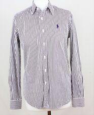 RALPH LAUREN SPORT Camicia a maniche lunghe viola righe bianche taglia 8 275 W