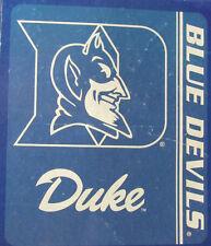 """NCAA Duke Blue Devils Plush 50"""" by 80"""" Raschel Blanket School Spirit Design"""