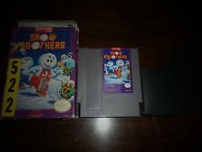 SNOW BROTHERS FOR NINTENDO NES IN ORIGINAL BOX AND MINT CART ALL 100% AUTHENTIC!