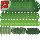 Artificial Tropical Plant Palm Leaves 60 Pcs Monstera Fake Large Green Leaf NEW