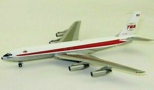 INFLIGHT 200 BOEING 707-300,TWA,N773TW, IF707TW0619P. 1/200. POLISHED WITH STAND