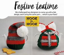 CROCHET PATTERN HOME DECORATION XMAS 2 TEA COSIES ELF HAT & WITH POCKET SCM M11A