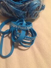 """(100) Silicone Blue Wristband Bracelets """"All Signs Point North"""" Baseball Cubs"""