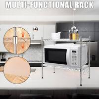 Metal Kitchen Microwave Storage Rack Holder Oven Shelf Organizer Adjustable