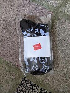 Imran Potato Exclusive Strange Symbols Socks Black & White Louis Vuitton Print