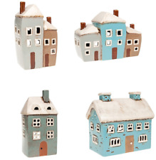 Ceramic Pottery House Tealight Holder Hand Finished by Artisans - You choose