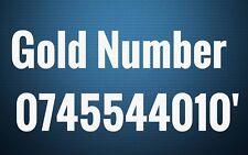 GOLD Three VIP BUSINESS EASY PLATINUM DIAMOND MOBILE PHONE NUMBER SIM CARD