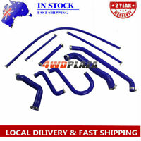 Silicone Radiator Hose Kit For Ford Falcon AU1 AU2 4.0 6CYL 98-02 Blue