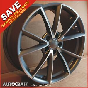 """19"""" RS4 MG Style ALLOY WHEELS + TYRES Fits - AUDI A3 A4 A6 TT PCD: 5X112"""
