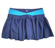 Lululemon Womens Size 4 Time To Shine Hero Blue Lined Running Skirt