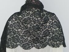 """Amazing ANTIQUE LACE- Embroidered Lace ~Shawl Mantilla Veil-Scaf-61"""" x 15.5"""""""