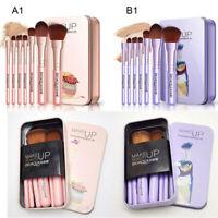 7Pcs Makeup Brushes Set Eye Lip Face Foundation Brush Kit Cosmetic Tool JAF