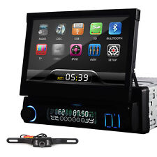 "Single 1 Din 7"" In dash Deck Car Stereo DVD Player TV Ipod BT Radio SD+CAMERA"