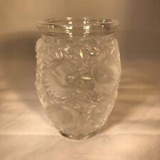 Lalique Bird Vase Signed