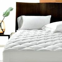 Luxury Quilted Mattress Protector Topper Bed Cover Fitted Sheet Hotel Quality