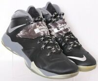 Nike 609679-001 LeBron Zoom Soldier 7 Black Lace-Up Basketball Shoes Men's US 11