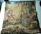 VINTAGE EARLY 1900'S TAPESTRY COLONIAL ARTIST PAINTING YOUNG GIRLS