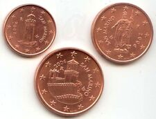 SAN MARINO - SET of Euro coins 2006 - 1cent 2 cent 5 cent UNCIRCULATED