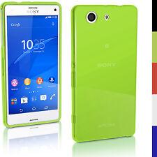 Trasparente Verde Gel TPU Custodia per Sony Xperia Z3 Compact D5803 Case Cover