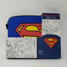 SUPERMAN SOFT CASE 10 INCH TABLET HOLDER NIB