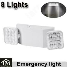 8x Led Emergency Exit Light Double Heads Home Office Market Ul Lighting Lamp Us