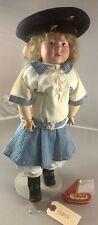 "15"" Antique German Bisque Shoulder Head Cm Painted Eyes Marie Doll! Rare! 18092"