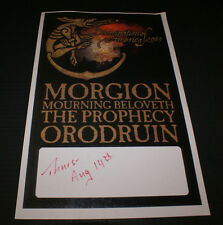 MORGION MOURNING BELOVETH THE PROPHECY ORODRUIN DOOMNATION OF AMERICA '03 POSTER