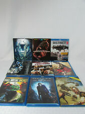 Lot Of 9 Blu-Ray Action Movie Collection Batman, Transformers, Aliens & More