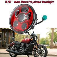5.75'' Moto Phare Projecteur LED Headlight Rouge Pour Harley Sportster 1200 883