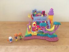 Vintage 1994 Bluebird Polly Pocket Kitty House - Lights Work - Missing Polly